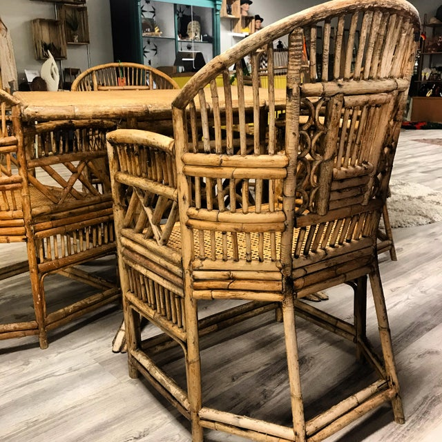 Brighton Pavilion All-Cane Table Top Dining Set - 5 Pieces For Sale - Image 9 of 13