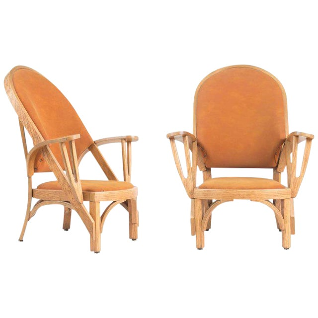 Norman Ridenour Bentwood Low Armchairs - A Pair For Sale