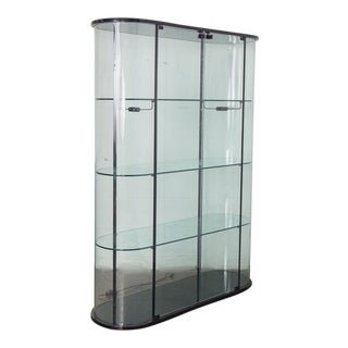 Pace Collection Tall Rounded Glass Vitrine For Sale