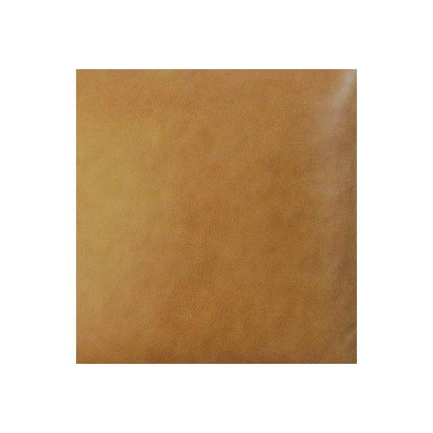 Custom Italian Golden Tan Leather Feather/Down Pillows - a Pair - Image 5 of 5