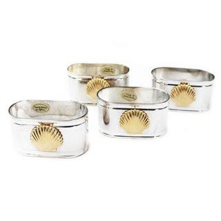 Vintage Silverplate Napkin Rings - Set of 4