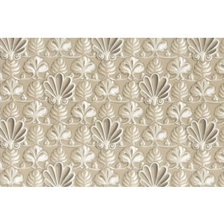 Vintage Bassett McNab Tan Shell Wallpaper - 10 Yard Roll For Sale