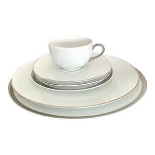 Raynaud France Mineral Platinum Limoges China Setting - Set of 6 For Sale