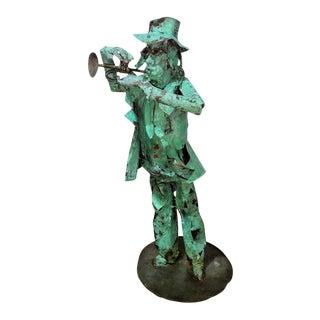 1997 Larry Whidden Blues Man Original Copper Sculpture