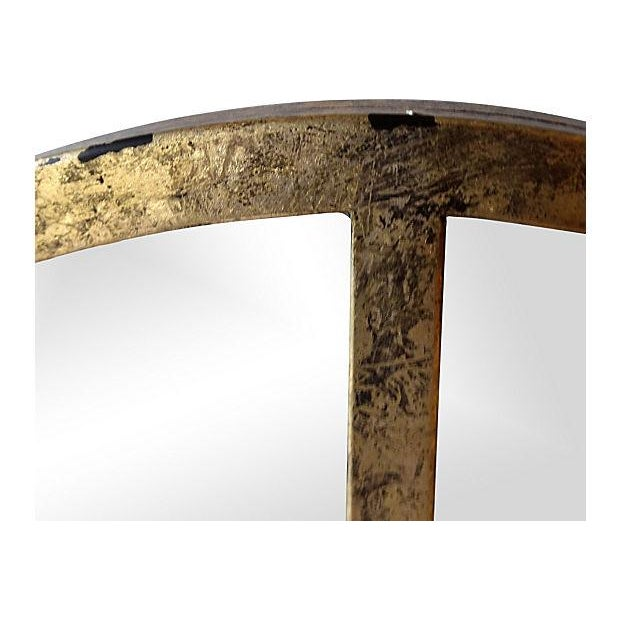 Gilt Finish Arched Metal Mirror - Pair - Image 3 of 7