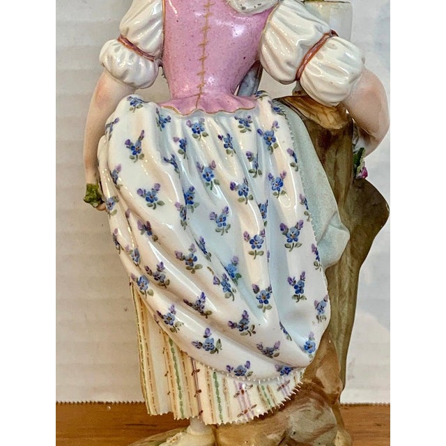 Late 19th Century Fine Late 19th Century Meissen Figurine of a Lady Gardener For Sale - Image 5 of 13