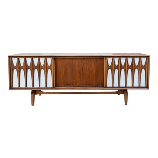 Mid 20th Century Mid-Century Brasilia Style Stereo Console With Bluetooth For Sale