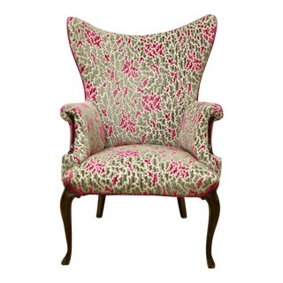 High Back French Wing Chair For Sale