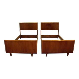 Mid-Century Danish Modern Twin Size Bed Frames - a Pair