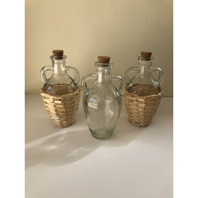 Wicker Wrapped Demijohn Bottles - Set of 3 For Sale - Image 13 of 13
