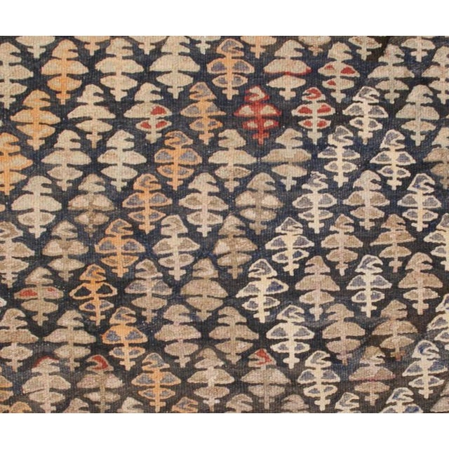 """Islamic Early 20th Century Qazvin Kilim Runner - 61"""" x 132"""" For Sale - Image 3 of 5"""