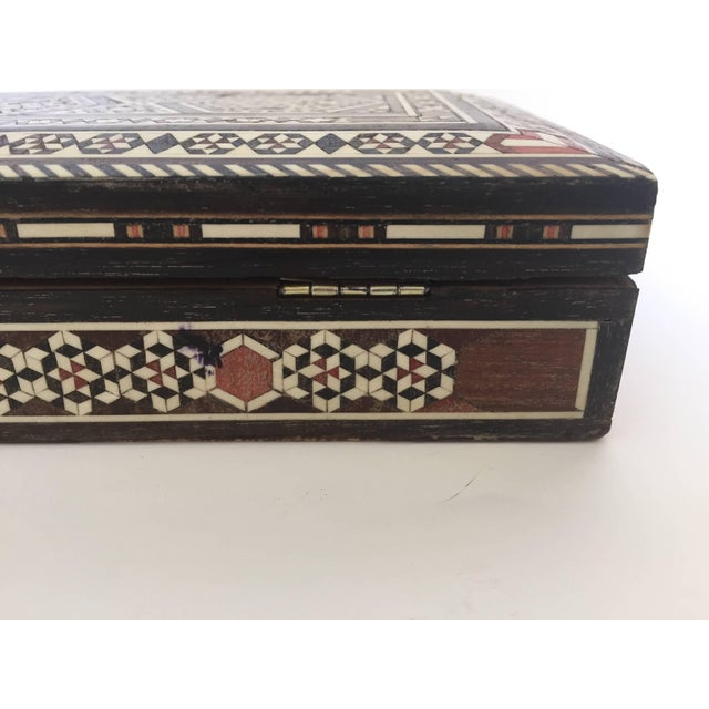 Syrian Inlay Jewelry Wooden Box For Sale - Image 4 of 10