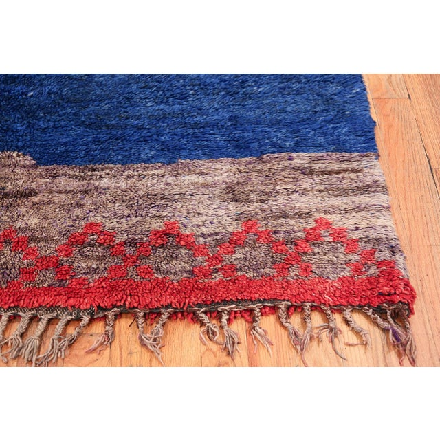 Islamic Vintage Moroccan Rug - 6′ × 8′9″ For Sale - Image 3 of 11