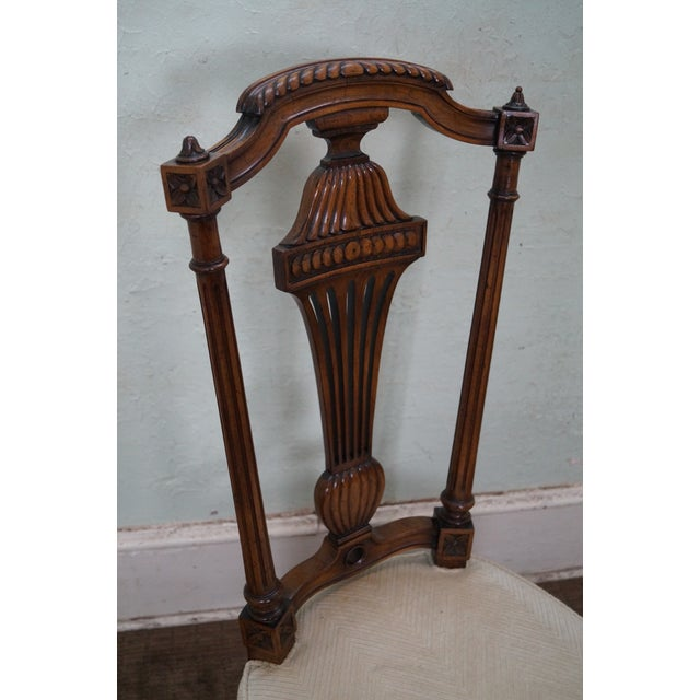 Karges Walnut French Style Walnut Dining Chair - 4 - Image 6 of 10