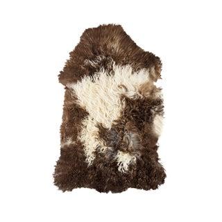 "Contemporary Long Wool Sheepskin Pelt/Handmade Rug - 1'9""x3'0"" For Sale"