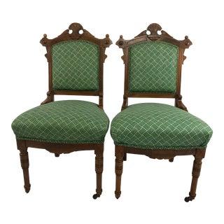 Antique Eastlake Parlor Chairs - A Pair