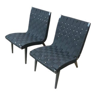 Risom Lounge Chairs - a Pair
