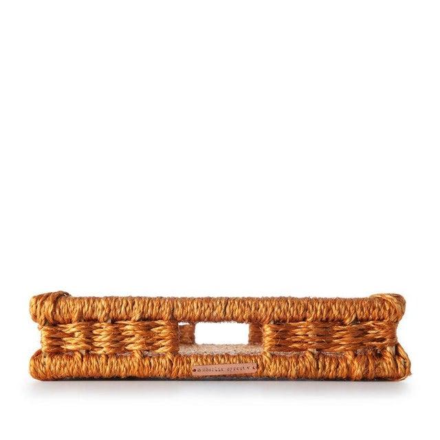 Boho Chic Rectangular Tray Ochre For Sale - Image 3 of 4