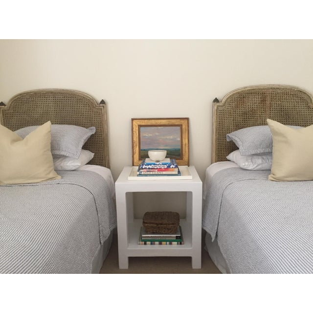 """Boho Chic Boho Chic White Plaster """"Telephone"""" Side Table For Sale - Image 3 of 5"""
