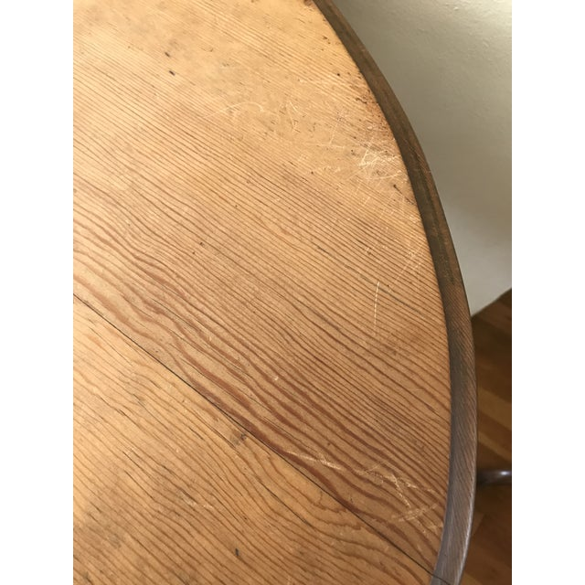 Brown 1960s Boho Chic Wooden Oval Accent Table For Sale - Image 8 of 13