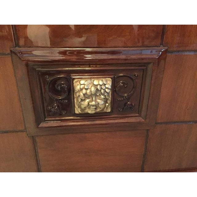 Art Deco Bronze Face French Art Deco Vitrine or Dry Bar For Sale - Image 3 of 10