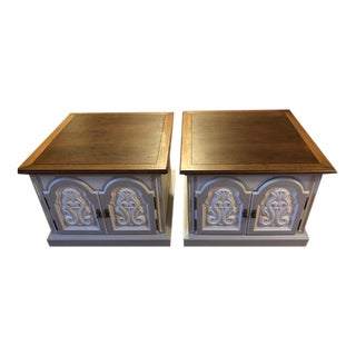 1970s Thomasville Art Deco Side Tables - A Pair