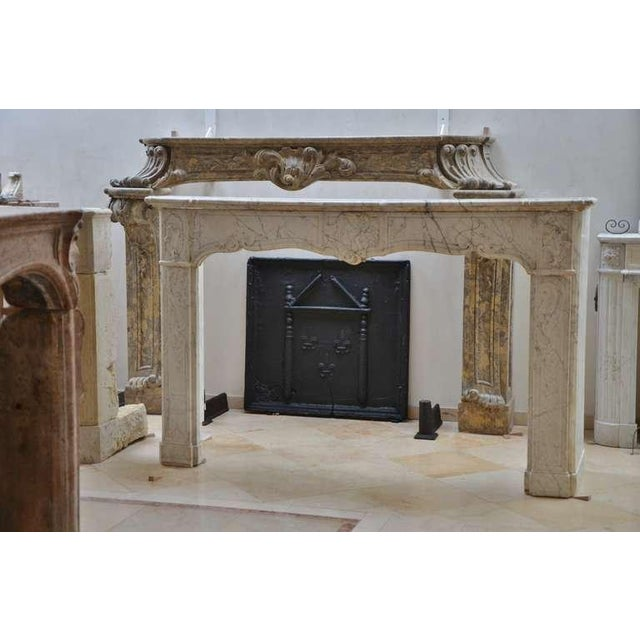 Metal 18th C. French Large Square Fireback For Sale - Image 7 of 9