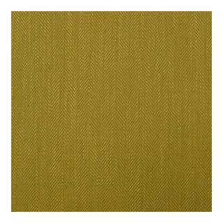 Herringbone Citron Green Fabric - 1 Yard For Sale