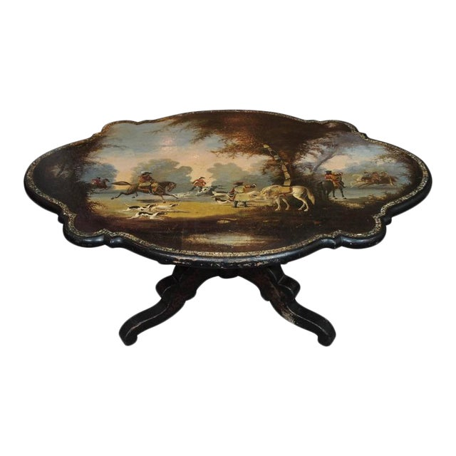 Antique English Victorian Coffee Table - Image 1 of 11