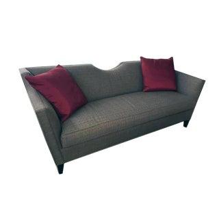 Henredon Modern Grey Upholstered Sofa For Sale