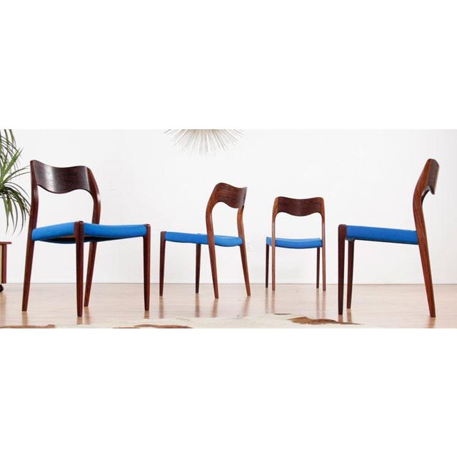 Moller Mid-Century Rosewood Chairs - Set of 4 - Image 3 of 7