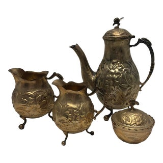 Early 20th Century Antique Indian Tea Set - Set of 5 For Sale