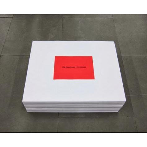 "Rare lithographic print from one of artist Felix Gonzalez Torres's ""Stack"" pieces. This particular one created for an..."