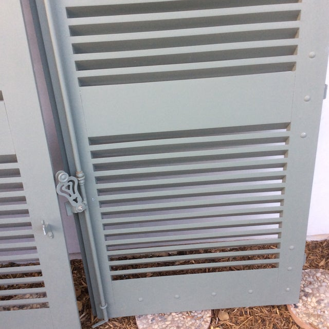 Made in France for some exterior windows. Could also be used in a stylish way indoors. Hardware included. Painted a French...