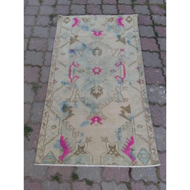 1980s Anatolian Oushak Rug For Sale - Image 5 of 5