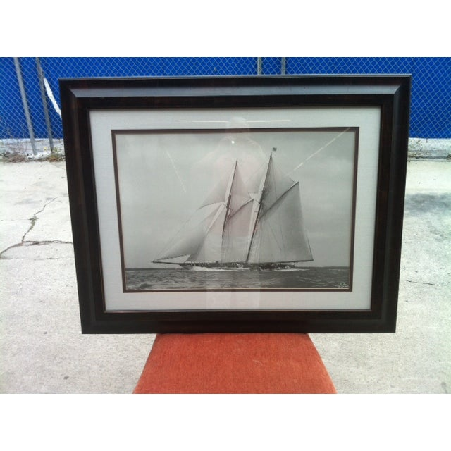 Crate & Barrel Photo Art - Meteor IV Sailing Boat - Image 2 of 3