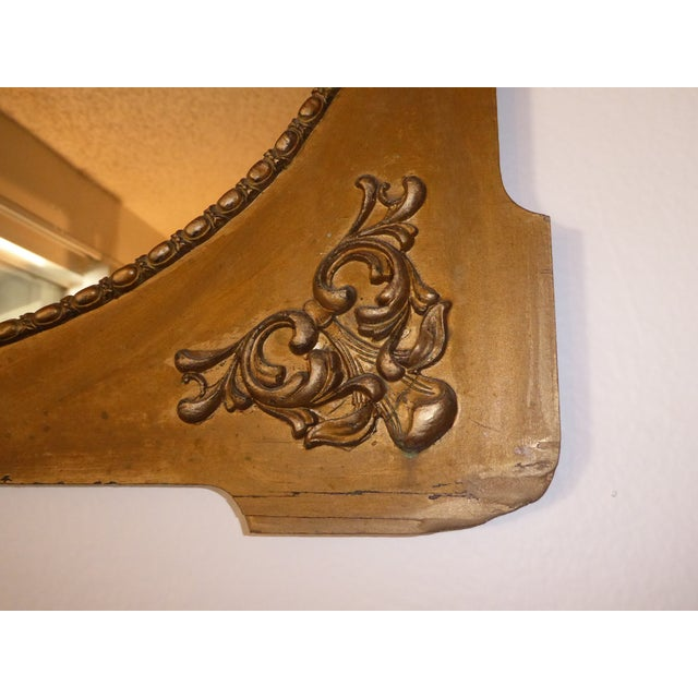 Antique Victorian Style Gold Gilt Floral Carved Wood Wall Mirror - Image 7 of 11