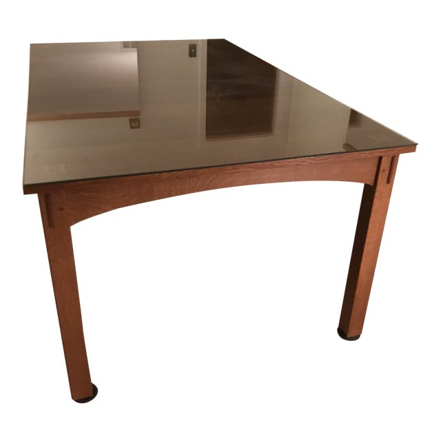 Harvey Ellis for Stickley Furniture Dining Table With Inlay on Four Corners For Sale