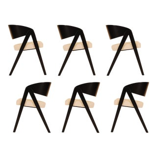 Mid Century Allan Gould Compass Dining Chairs - Set of 6 For Sale