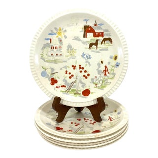 Harmony House Farmer in the Dell Plates - Set of 6 For Sale