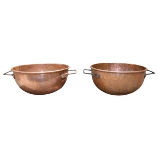 Pair of 19th Century Copper Cooking Vats For Sale
