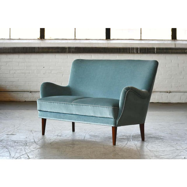 Classic Frits Henningsen Style Settee or Loveseat Danish Midcentury For Sale - Image 10 of 10