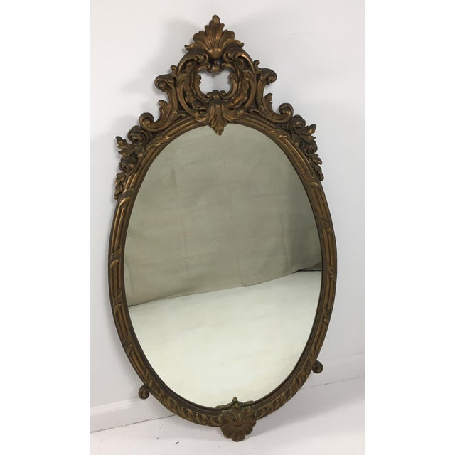 Gold Early 20th Century Rococo Mirror For Sale - Image 8 of 9
