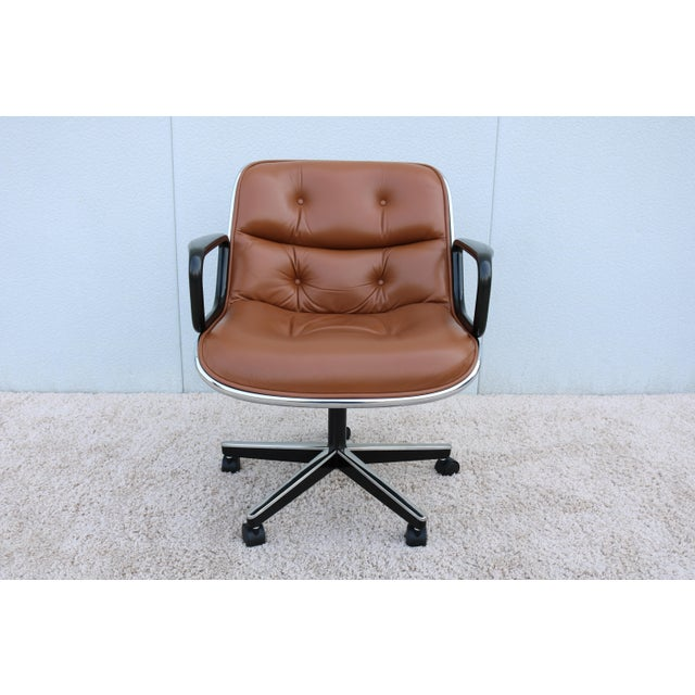Brown Leather Knoll Pollock Executive Chair For Sale - Image 13 of 13