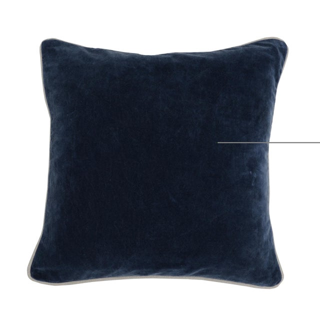 Contemporary Classic Home Blue Velvet Pillow For Sale In Chicago - Image 6 of 6