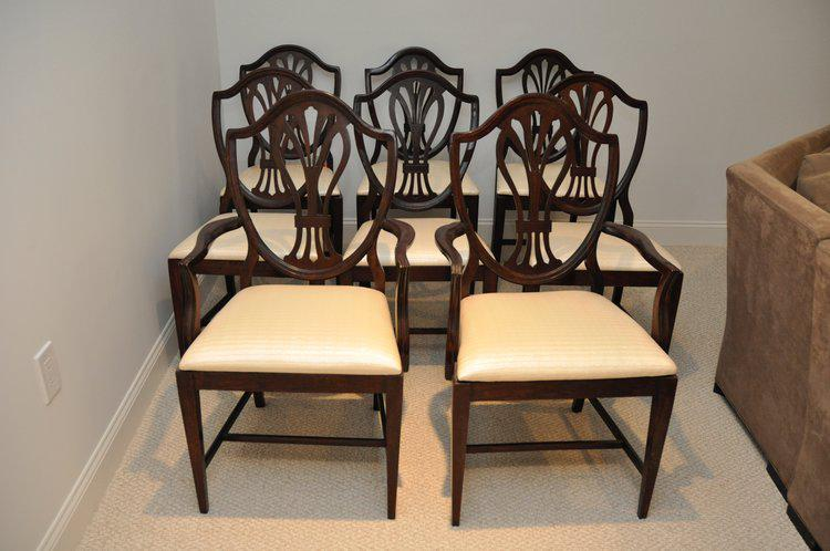 Reproduction Hepplewhite Shield Dining Chairs   Set Of 8   Image 3 Of 10