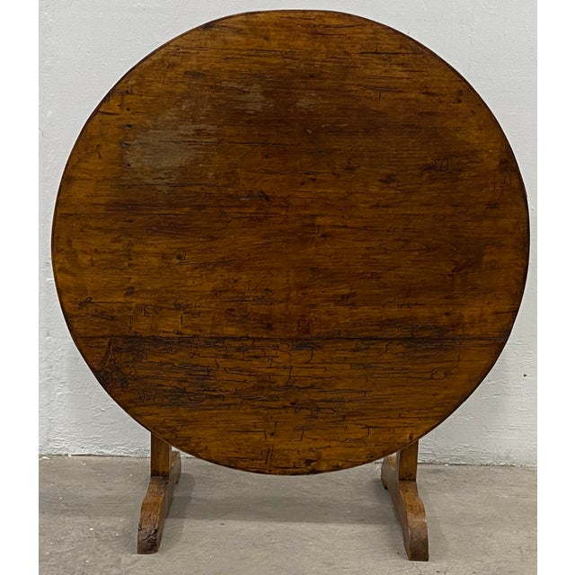 19th Century French Tilt Top Tavern or Wine Table For Sale - Image 9 of 9