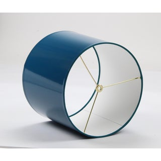 Large Teal High Gloss Drum Lampshade Preview