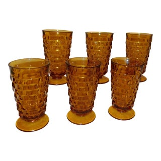 Indiana Glass Colony Whitehall Glasses - Set of 6 For Sale
