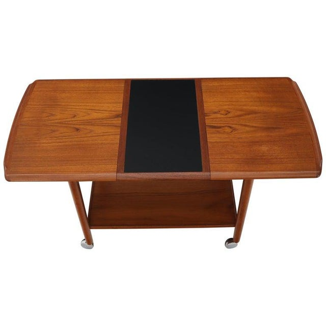Danish Mid-Century Modern Teak Expandable Cart With One Leaf For Sale - Image 9 of 13